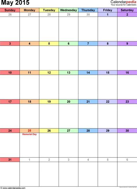 Small Blank Calendar Template