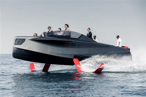 boat engine hydrofoil foiler hydrofoil powered luxury yacht