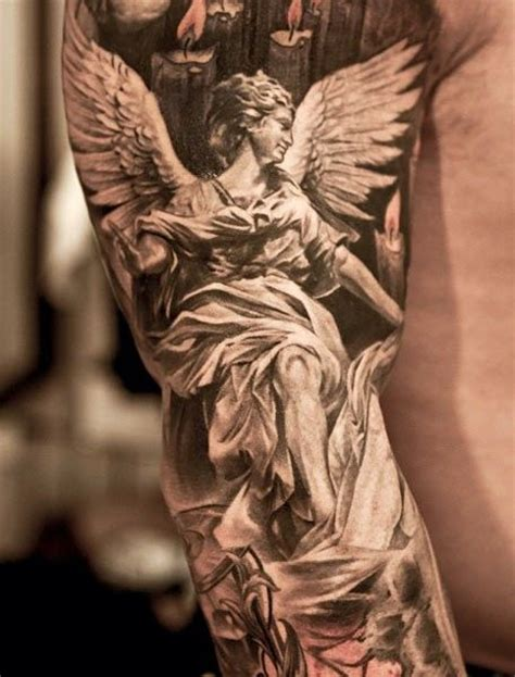 guardian angel tattoo sleeve designs tattoos for ideas and inspiration for guys