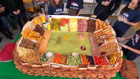 best superbowl snacks bowl snack stadium revealed abc news