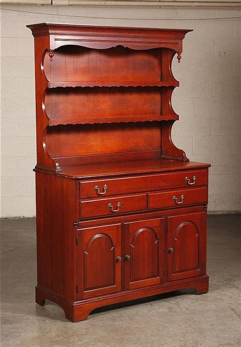 cherry wood china hutch made by pennsylvania house reprodu
