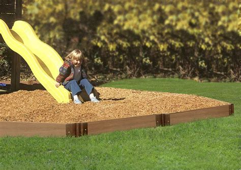 swing borders swing set edging www backyardfundandleisure com 370 for