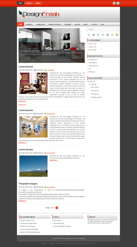 latest templates for blogger blogger templates adapted from wordpress free templates