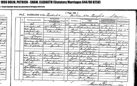 Glasgow Marriage Records Elizabeth Shaw B Abt 1872 Glasgow Lanarkshire Scotland United Kingdom Simon Hurd