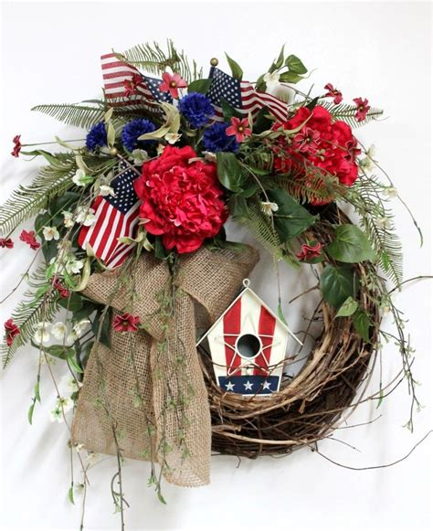patriotic wreaths for front door 4th of july wreaths 4th july bandana patriotic and