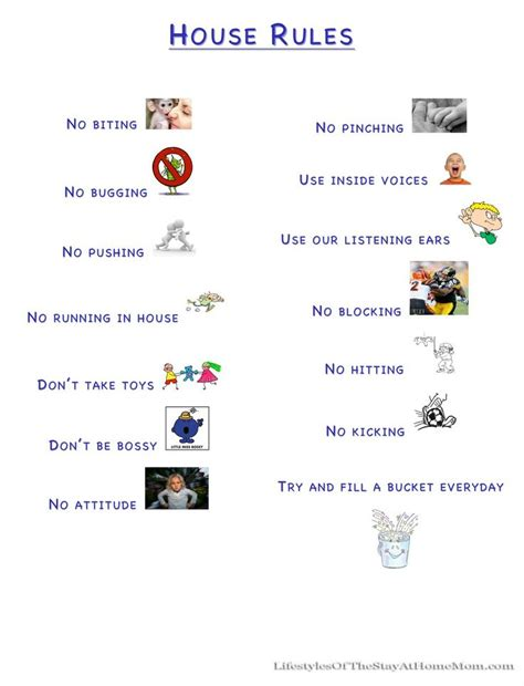 house rules for kids that s it that s how we run things