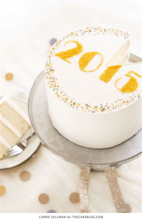 new year cake easy sprinkle new years cake