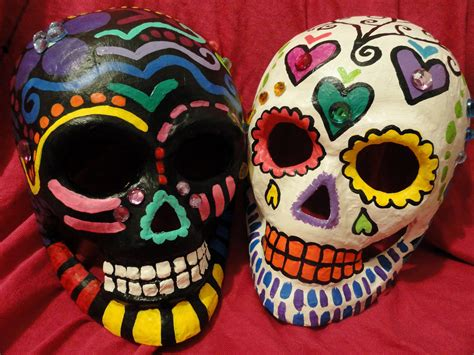 How To Make Paper Mache Masks Step By Step - sale sugar skull paper mache mask wall special addition
