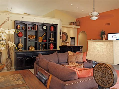 Chocolate And Orange Living Room by Photo Page Hgtv