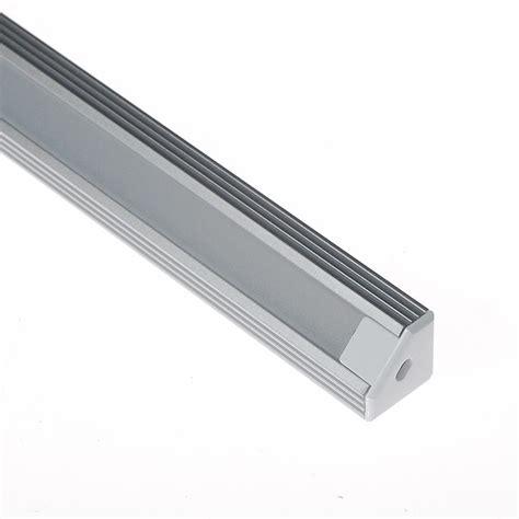 Diskon Housing Rigid Aluminium Etalase 45 Degree led light fixtures aluminum extrusion channel lighting housing