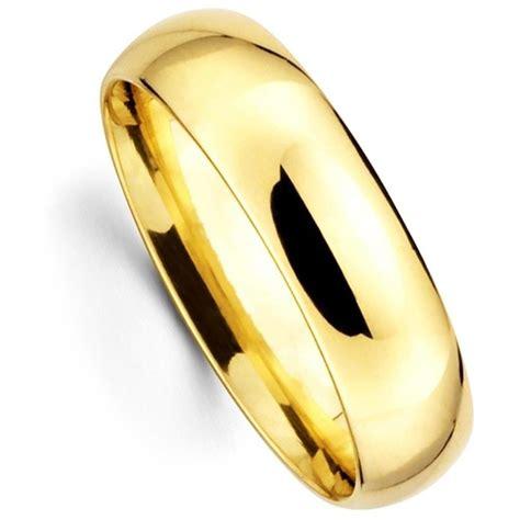 Men's Women's Solid 14K Yellow Gold Plain Wedding Ring