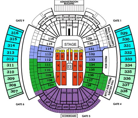 ralph wilson seating chart one direction new era field tickets september 03 2015 at