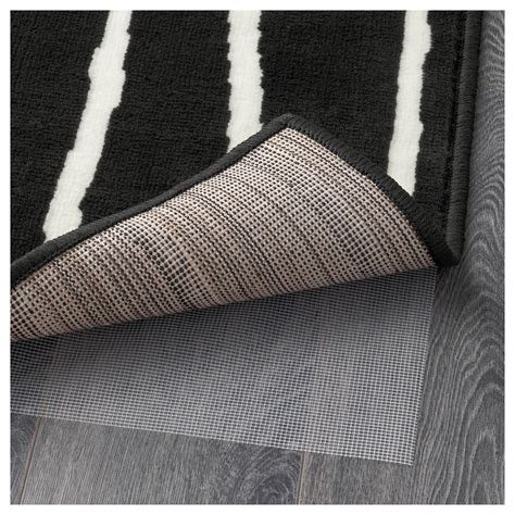 low pile rug meaning g 214 rl 214 se rug low pile black white 133x195 cm ikea