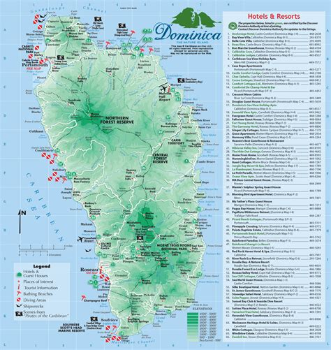 tripadvisor map carte de la dominique ou dominica forum de voyage sur