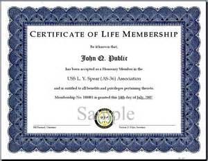 certificate of membership template certificate of membership sle images
