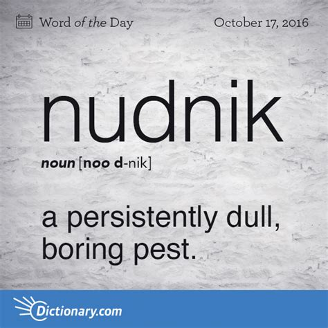 is quid a word in scrabble nudnik word of the day dictionary