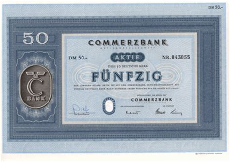 allied banks aktie commerzbank ag 1946 to 1969