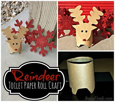 Crafts Made Out Of Toilet Paper Rolls - mini reindeer toilet paper roll craft for