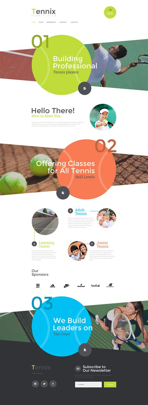 Wesite Templates by Tennis Web Template