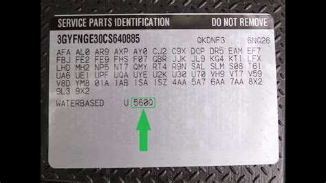 How To Find By Location On How To Find Your Cadillac Paint Code Erapaints