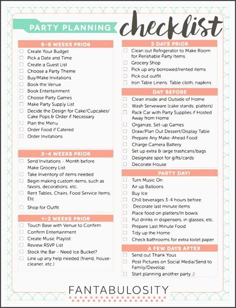 10 Church event Planning Checklist Example