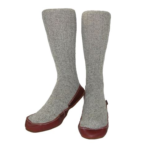 slipper socks mens wool sock slippers by acorn s slippers at