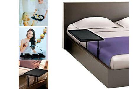 adjustable height bedside table slides under mattress