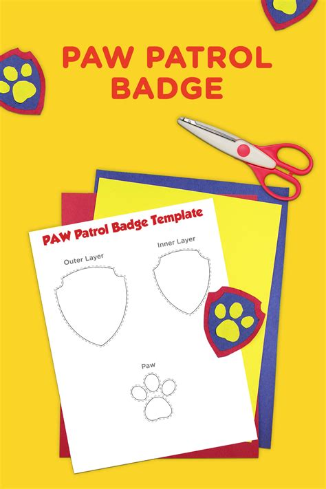 printable images of paw patrol paw patrol printable badge template paw patrol badge