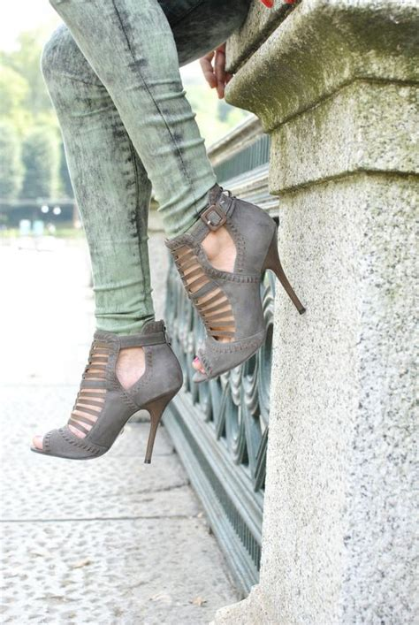 Repeat Trend Wedges by Grey Gladiator Front Booties Again I Repeat Who Needs A