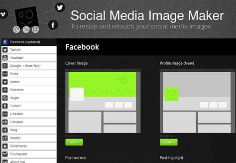 image layout maker new social media image maker lets you resize retouch