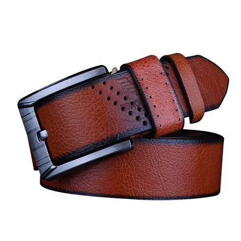 new 2016 retro pin buckle branded mens pu leather belts