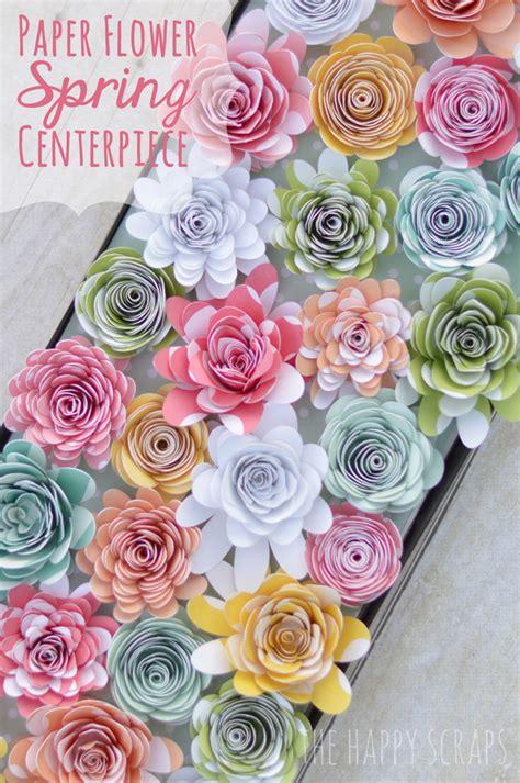 how to make paper flower centerpieces paper flower centerpiece the happy scraps
