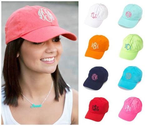 womens baseball cap easter hat personalized monogrammed