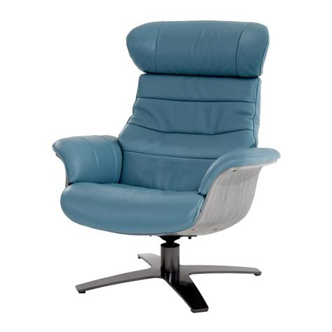 Blue Leather Swivel Chair Enzo Blue Leather Swivel Chair Blue Swivel Chair