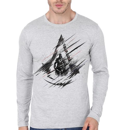 Assassin S Creed 4 T Shirt assassin s creed grey sleeve t shirt swag shirts