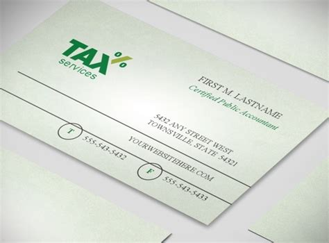 accounting business card templates accounting tax services business business card templates