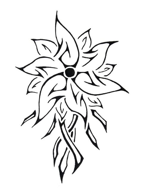 tribal flower tattoo designs 22 amazing tribal flower tattoos