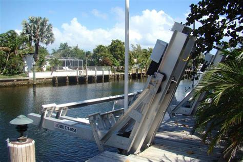 hurricane boats lifts 40 000 lbs hurricane hydraulic aluminum elevator boatlift