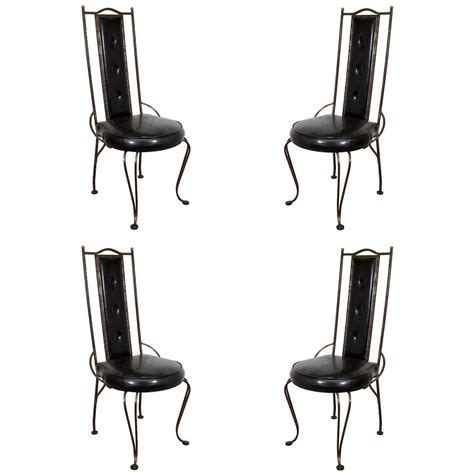 wrought iron dining room chairs a set of four mid century wrought iron dining chairs at