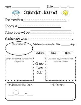 Calendar Worksheets For 1st Grade by 1st Grade Calendar Math Journal A Few Of These S On