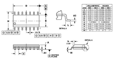 soic 8 footprint dimensions mc74ac125 soic 14 rhydolabz india