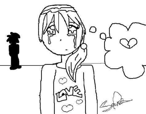 imagenes niña llorando desenho de menina chorando para colorir colorir com