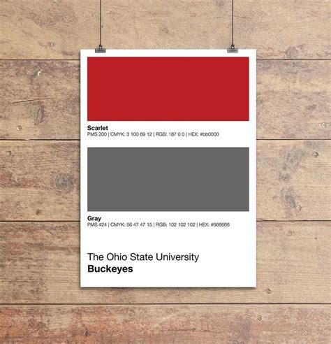 ohio state colors ohio state gameday colors poster