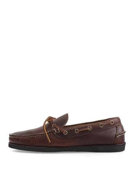 eastland made in maine boat shoes eastland made in maine yarmouth leather boat shoe brown