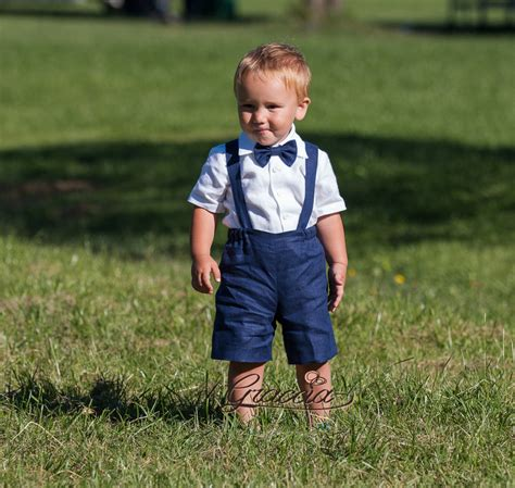 wedding attire for 1 year boy ring bearer boy suspenders suit baby boy linen clothes