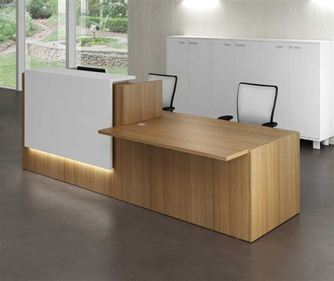 Reception Desk Section Z2 Reception Desk With A Dda Meeting Section In Canaletto Walnut And White Mfc Office