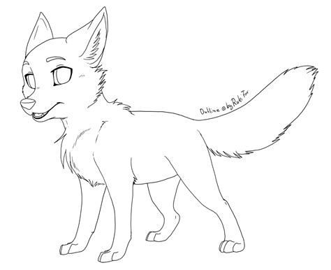 Outlines Of Wolves by Anime Wolf Pup Outline Www Imgkid The Image Kid Has It