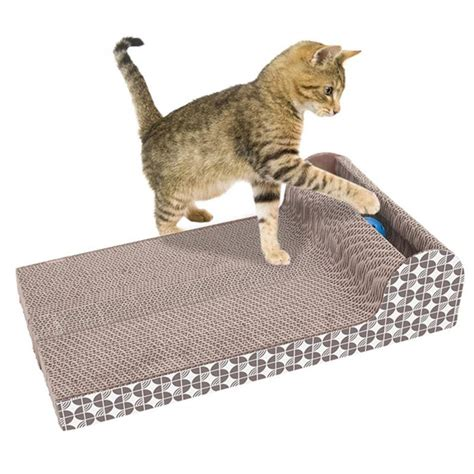 Scratching Mats For Cats by Quality Cats Kitten Corrugated Scratch Board Pad