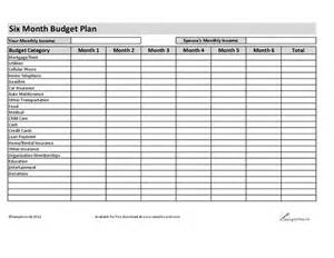 six month budget plan hashdoc