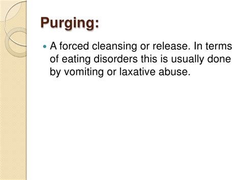 Detox Laxative Abuse by Disorder Glossary Part I